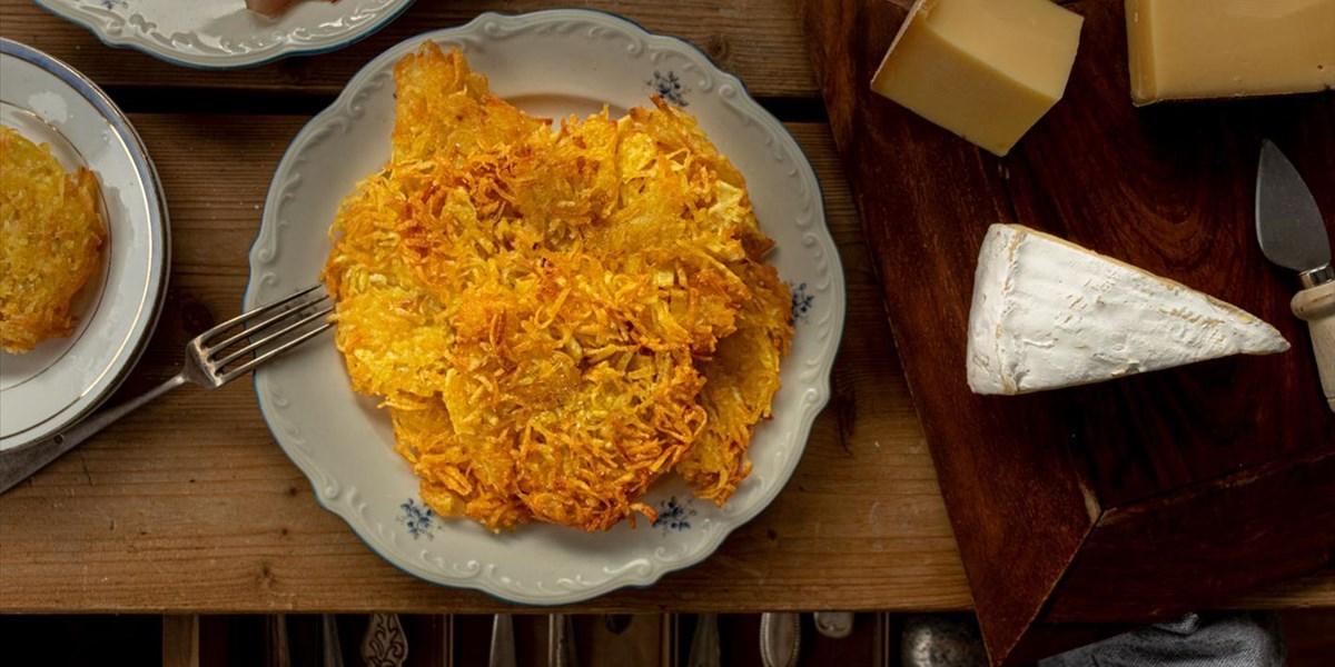Tortel di patate: Kartoffelpuffer nach Trentiner Art