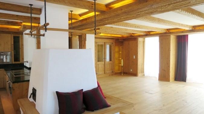 Gemütlich und modern der Wohnraum ...