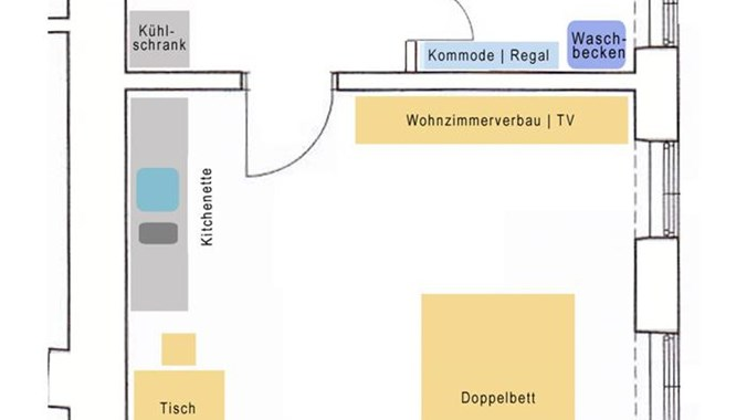 Wohnungsskizze deutsch