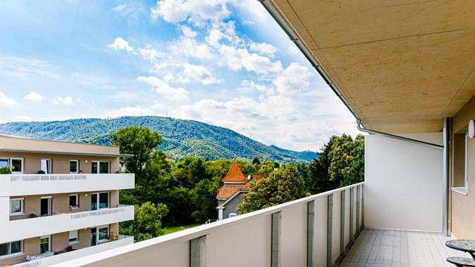 Balkon Plabutsch/ Burgruine Gösting Blick