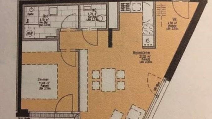 Helles Wohnzimmer, westseitig ausgerichtet in ruhiger Sackgasse