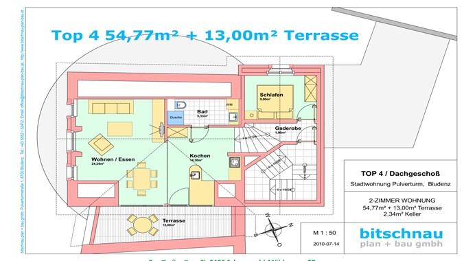 Grundriss der DG-Wohnung